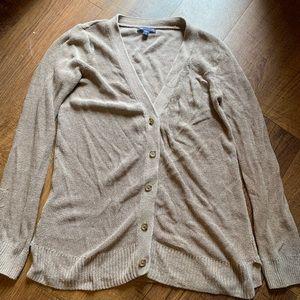 Gap Woven Button Down Cardigan Sweater